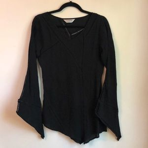 Top shop long sleeve asymmetrical top